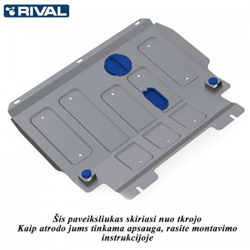 Aliumininė variklio apsaugu Rival 4208.1